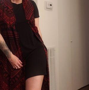 Red kimono vest